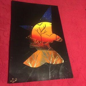 Witch spray paint art
